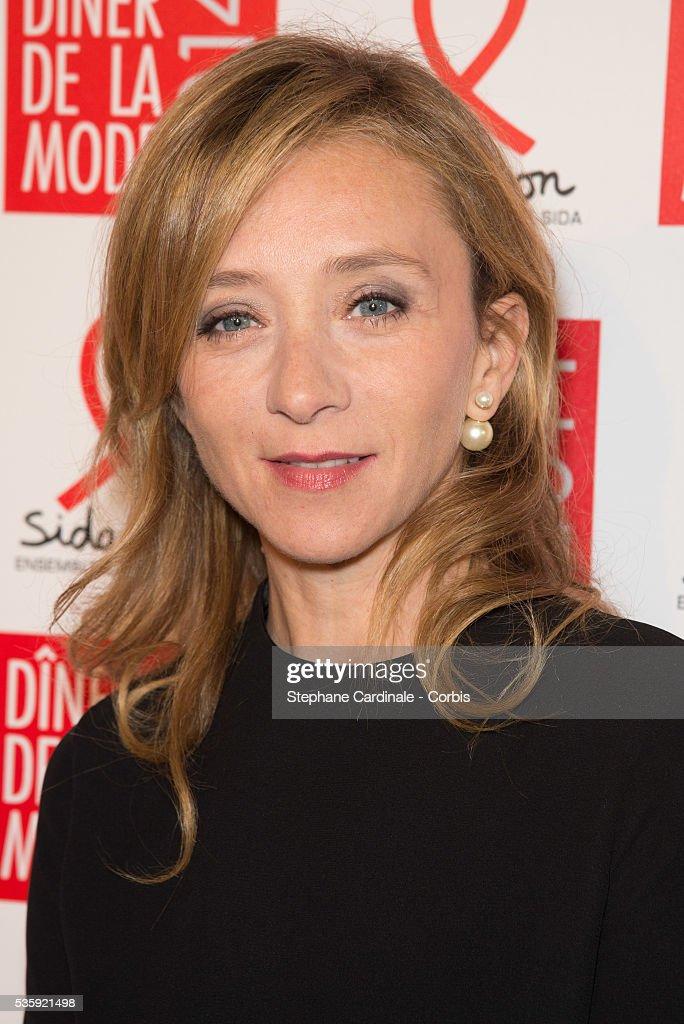 Sylvie Testud attends the Sidaction Gala Dinner at Pavillon d'Armenonville, in Paris.