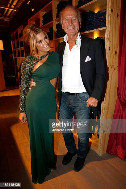 Sylvie van der Vaart and Uwe Schroeder of Tom Tailor attend the Tribute To Bambi Party at Station on October 17 2013 in Berlin Germany