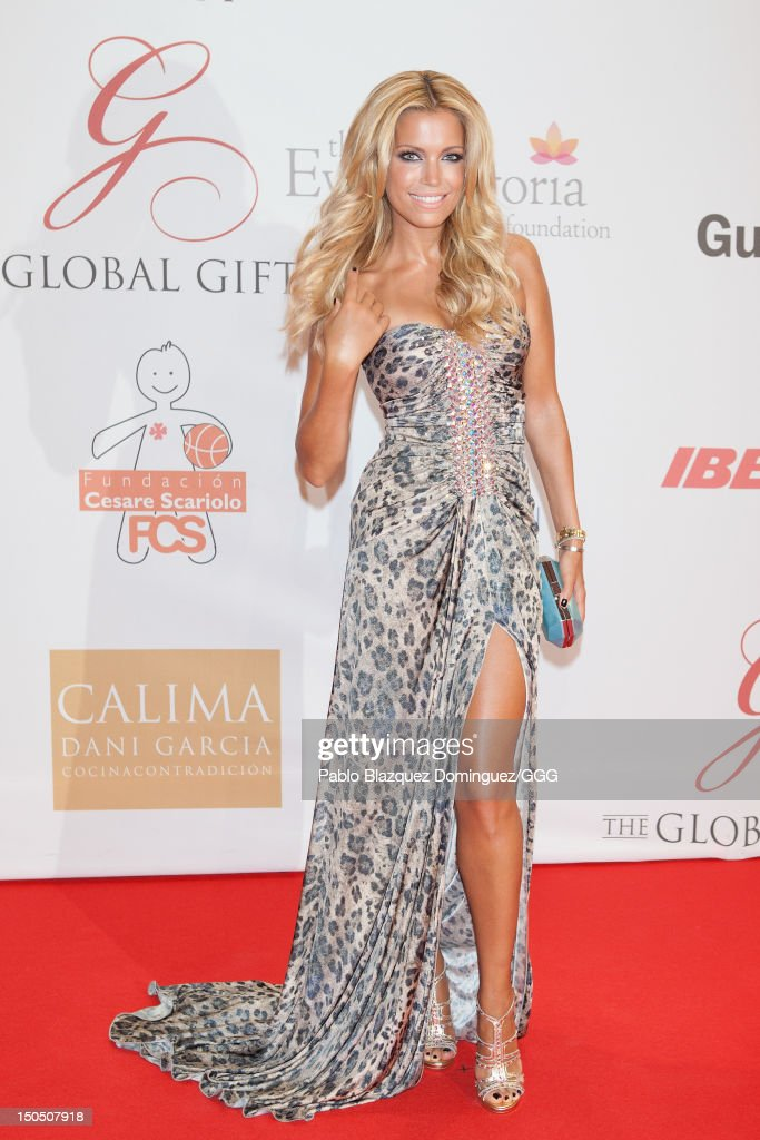 Sylvie Van Der Vaart attends the Global Gift Gala held to raise benefits for Cesare Scariolo Foundation and Eva Longoria Foundation on August 19, 2012 in Marbella, Spain.