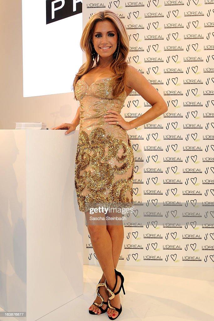 Sylvie van der Vaart attends the L'Oreal presentation at Top Hair International Trend & Fashion Days on March 17, 2013 in Dusseldorf, Germany.