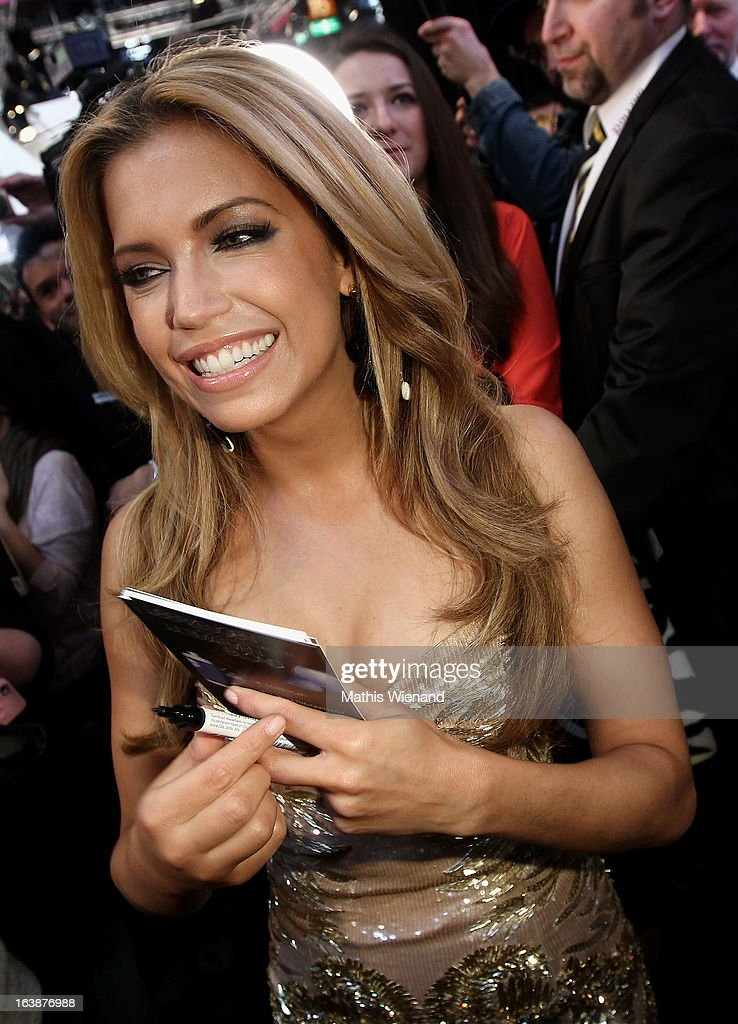 Sylvie van der Vaart attends the L'Oreal Professionnel Show at Beauty Fair Top Hair international on March 17, 2013 in Dusseldorf, Germany.