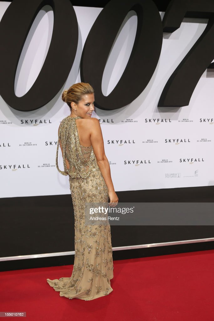 Sylvie van der Vaart attends the 'Skyfall' Germany premiere at Theater am Potsdamer Platz on October 30, 2012 in Berlin, Germany.