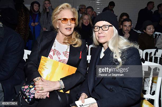 Sylvie Vartan and Dominique Isserman attend the Jean Paul Gaultier Haute Couture Spring Summer 2017 show as part of Paris Fashion Week on January 25...