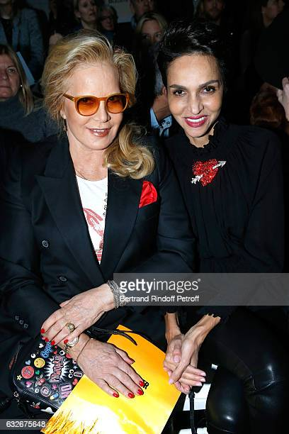 Sylvie Vartan and Farida Khelfa attend the Jean Paul Gaultier Haute Couture Spring Summer 2017 show as part of Paris Fashion Week on January 25 2017...