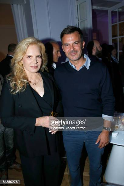 Sylvie Vartan and Francois Ozon attend the Dinner after Sylvie Vartan performed at L'Olympia on September 16 2017 in Paris France