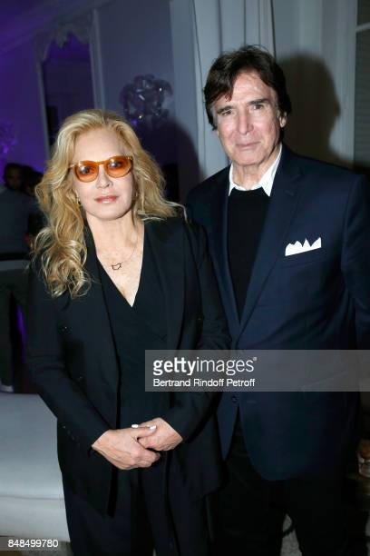 Sylvie Vartan and her husband Tony Scotti attend the Dinner after Sylvie Vartan performed at L'Olympia on September 16 2017 in Paris France