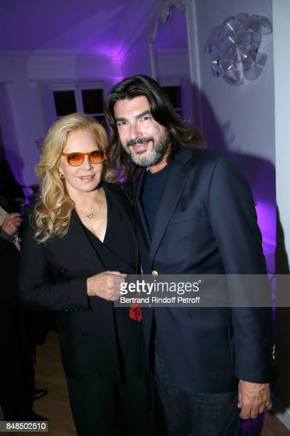 Sylvie Vartan and Stephane Rolland attend the Dinner after Sylvie Vartan performed at L'Olympia on September 16 2017 in Paris France