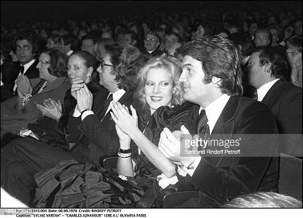 Sylvie Vartan at Charles Aznavour Concert At The Olympia In Paris 1972