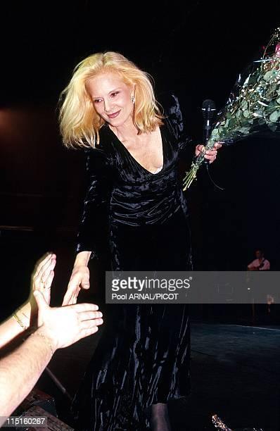 Sylvie Vartan at the Olympia in Paris France in November 1996 Sylvie Vartan