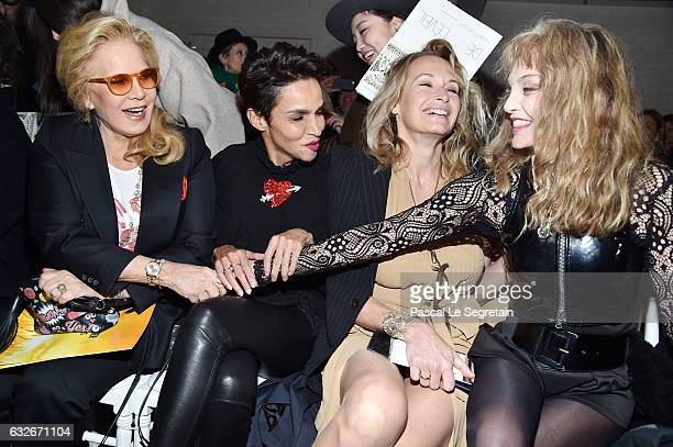 Sylvie Vartan Farida Khelfa Estelle Lefebure and Arielle Dombasle attend the Jean Paul Gaultier Haute Couture Spring Summer 2017 show as part of...