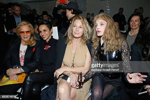 Sylvie Vartan Farida Khelfa Estelle Lefebure and Arielle Dombasle attend the Jean Paul Gaultier Haute Couture Spring Summer 2017 show as part of...
