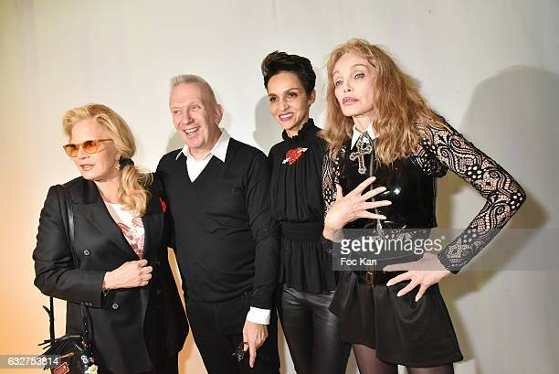 Sylvie Vartan Jean Paul Gaultier Farida Khelfa and Arielle Dombasle and r attend the Jean Paul Gaultier Haute Couture Spring Summer 2017 show as part...