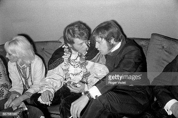 Sylvie Vartan Johnny Hallyday and the President Rosco radio host France HA1817