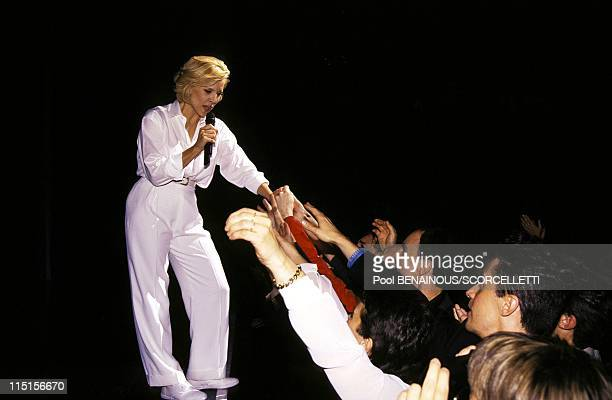 Sylvie Vartan on stage at Olympia in Paris France on October 15 1996