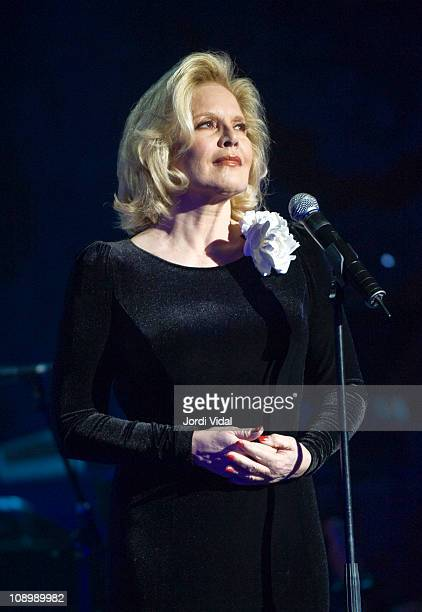 Sylvie Vartan performs on stage during the Festival del Millenni at Palau De La Musica on February 10 2011 in Barcelona