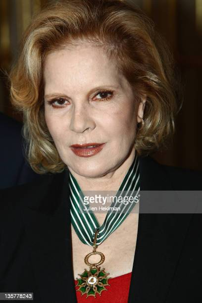 Sylvie Vartan poses after being awarded Commandeur des Arts et Lettres at Ministere de la Culture on December 14 2011 in Paris France