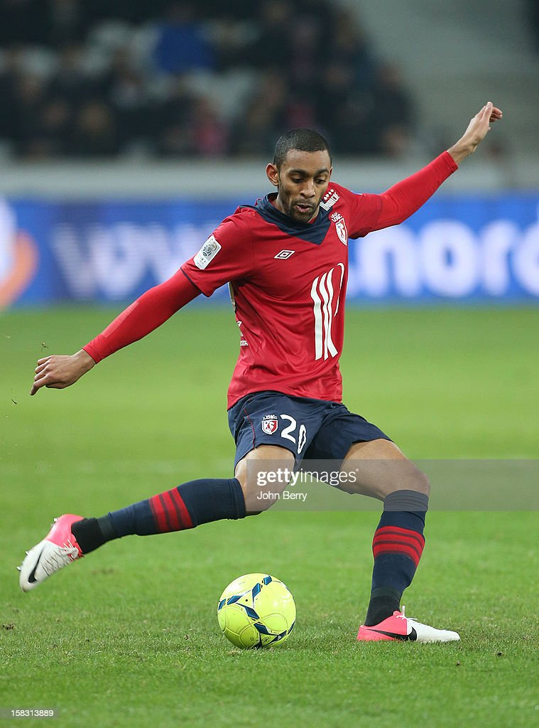 Sylvio Ronny Rodelin of LOSC in action during the French Ligue 1 match between Lille OSC and Toulouse FC at the Grand Stade Lille Metropole on December 11, 2012 in Lille, France.