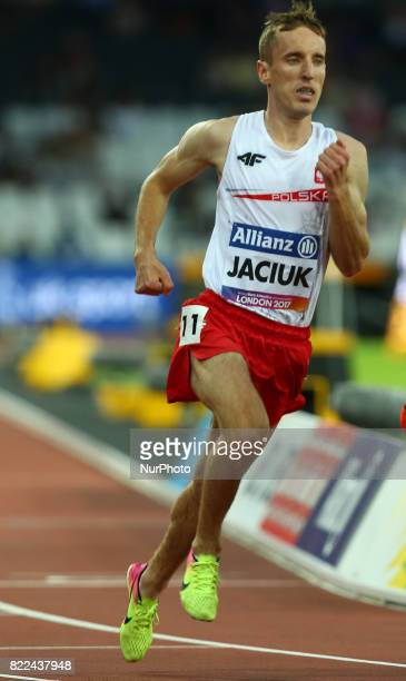 Sylwester Jaciuk of Poland compete Men's 1500m T20 Final during World Para Athletics Championships Day Three at London Stadium in London on July 17...