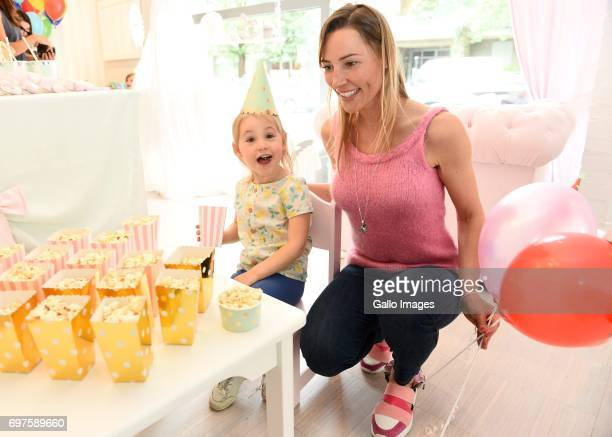 Sylwia Gruchala participates in the Tripp Trapp Engraving childrens day party on June 01 2017 in Warsaw Poland The Childrens Day is celebrated in...