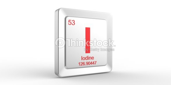I Symbol 53 Material For Iodine Chemical Element Stock Photo