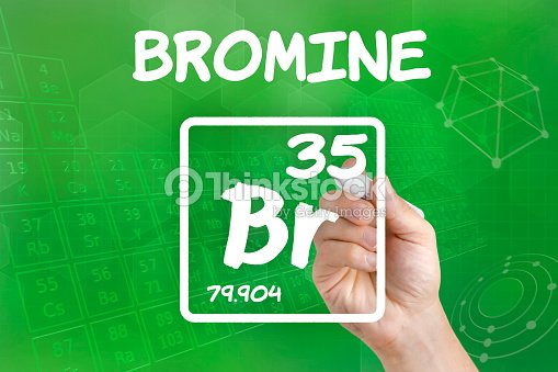 Symbol For The Chemical Element Bromine Stock Photo Thinkstock