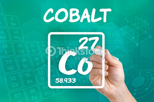 Symbol For The Chemical Element Cobalt Stock Photo Thinkstock