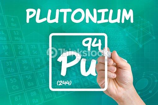 Symbol For The Chemical Element Plutonium Stock Photo Thinkstock