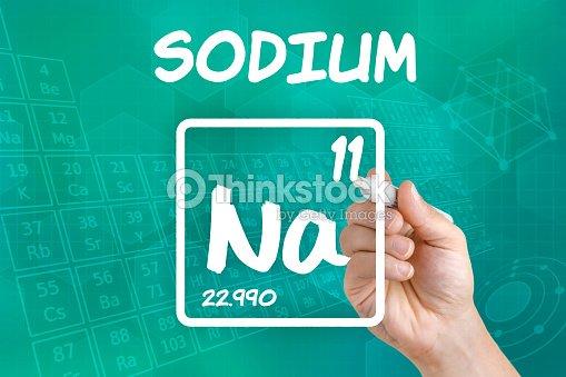 symbol for the chemical element sodium stock photo thinkstock