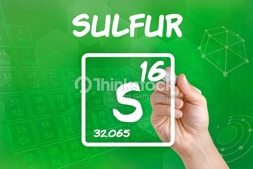 Symbol For The Chemical Element Sulfur Stock Photo Thinkstock