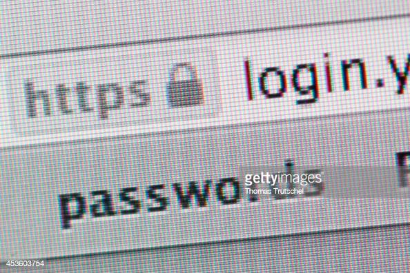 Symbol of a secure website https on a computer screen on August 08 in Berlin Germany