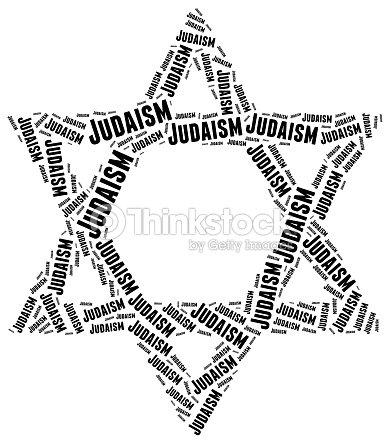 Symbol Of Judaism Religion Word Cloud Illustration Stock Photo