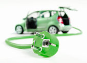 Car with cable and plug