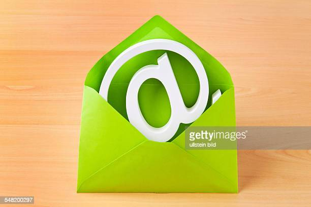symbolic photo electronic letter email icon in an envelope