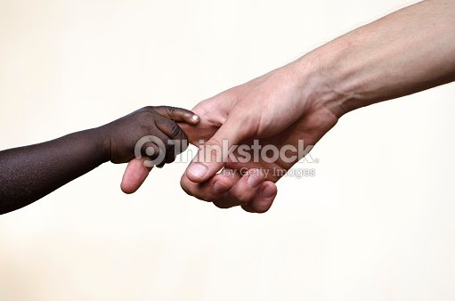 Symbols Of Peace Helping Hand For African Children Togetherness