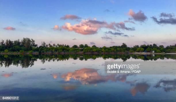 Symmetrical reflection of Addu Atoll