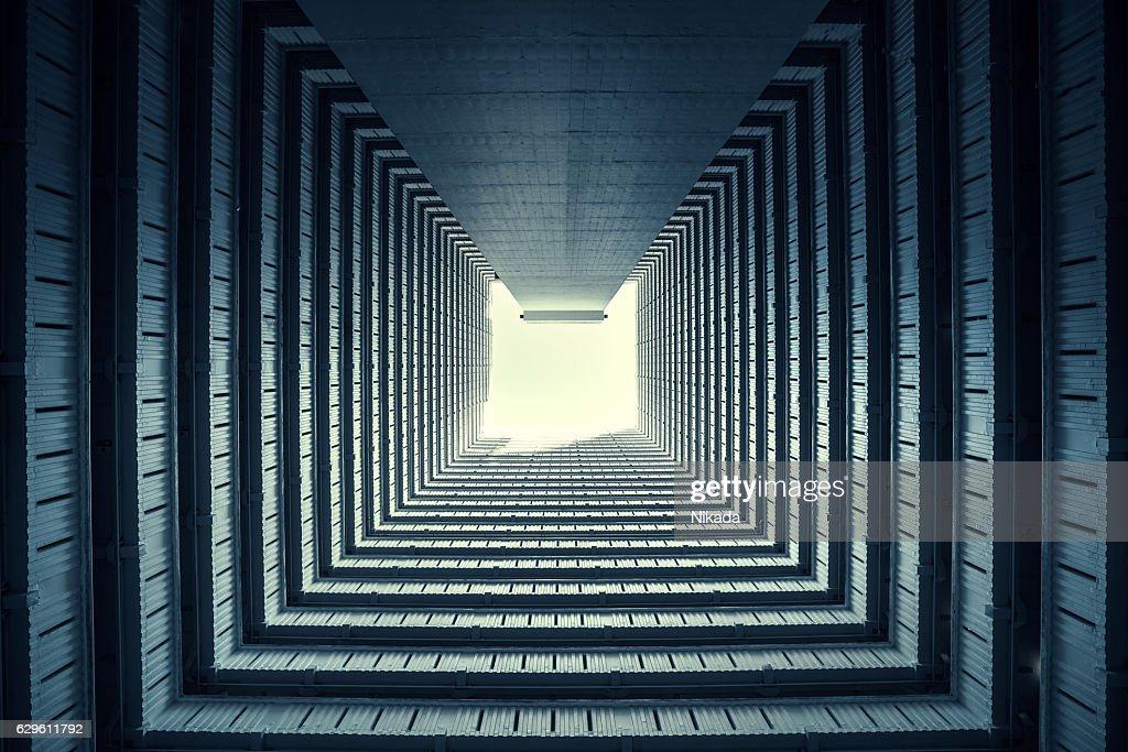 symmetrical residential buildings in hong kong china