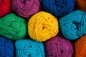 Colorful and textured blend of cotton yarn, versatile and perfect for any projects related to knitting or crocheting.