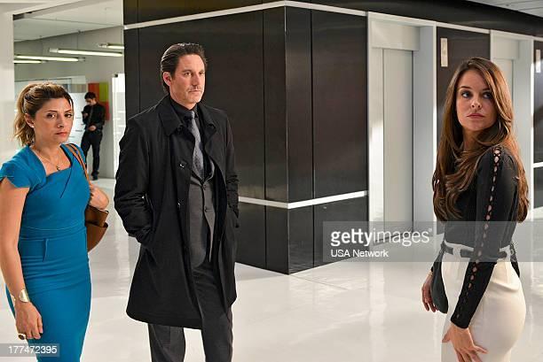 ROUGHNESS 'Sympathy For the Devil' Episode 310 Pictured Callie Thorne as Dr Dani Santino Scott Cohen as Nico Careles Yara Martinez as Alex Careles