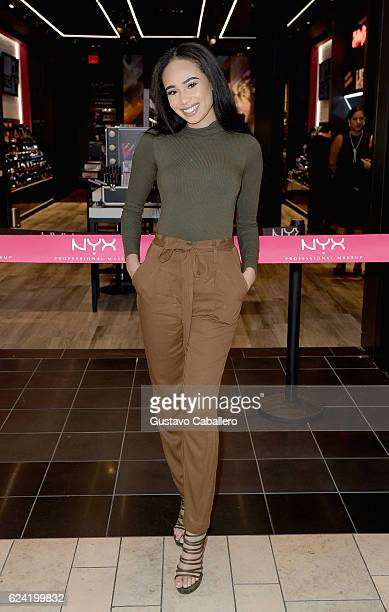Symphani Soto attends the NYX Professional Makeup Store Miami International Photos Ribbon Cutting at the NYX Professional Makeup Store at Miami...