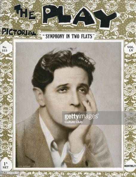Symphony in Two Flats by Ivor Novello depicted 1929The Play vol 55 no 333 Welsh singer composer actor 15 January 1893 – 6 March 1951