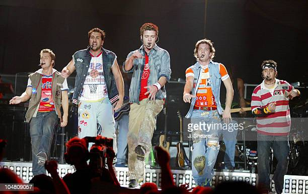 'N Sync during *NSYNC Celebrity Tour 2002 Oakland at Oakland Arena in Oakland California United States