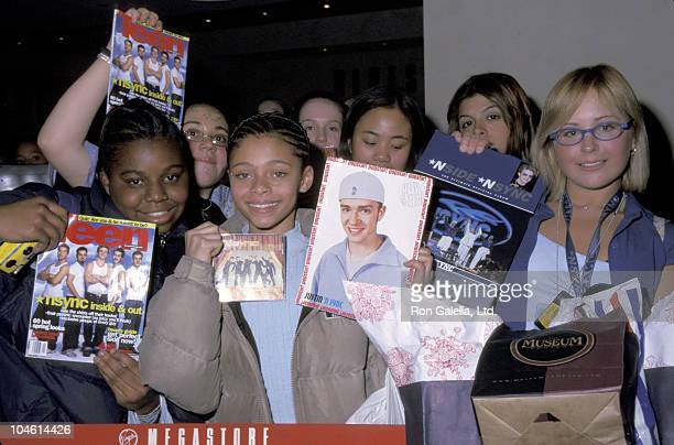 N'Sync Fans during *NSYNC Party for 'No Strings Attached' Album at Laura Belle in New York City New York United States
