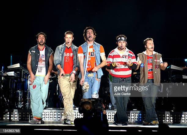 'N Sync Live during 'N Sync Live in Concert Anaheim in Anaheim California United States