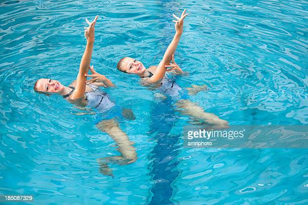 synchronized swimming training
