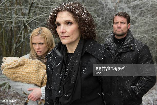 GRIMM 'Synchronocity' Episode 317 Pictured Claire Coffee as Adalind Schade Mary Elizabeth Mastrantonio as Kelly Damien Puckler as Meisner