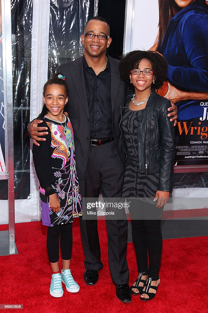 Syndey Scott ESPN Sportscaster Stuart Scott and Taylor Scott attend the premiere of 'Just Wright' at Ziegfeld Theatre on May 4 2010 in New York City