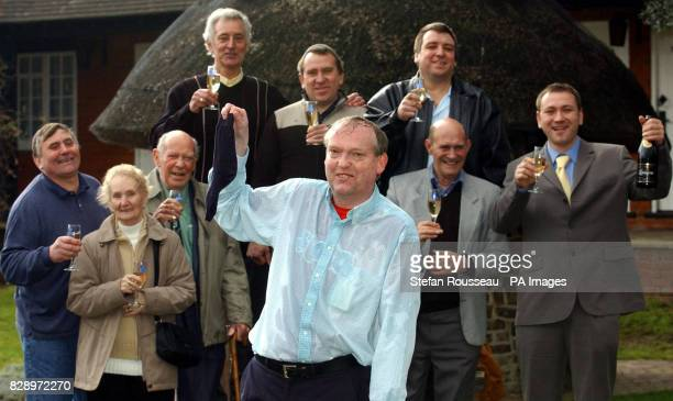 A syndicate of nine people top row from left Brian Humphreys Ian Anderson Terry Anderson Colin Exley Bernard Stupples Kevin Cloke Sidney Keeley...