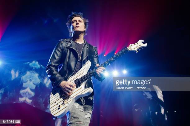 Synyster Gates from Avenged Sevenfold performs at AccorHotels Arena Popb Paris Bercy on March 2 2017 in Paris France