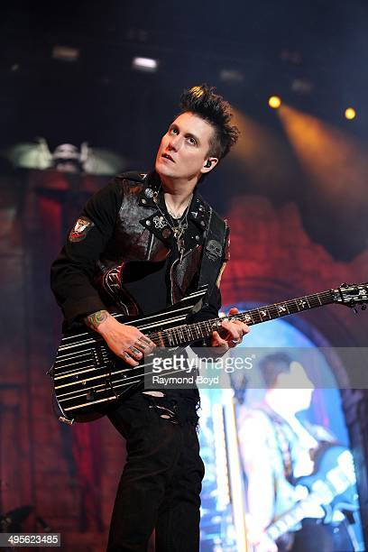 Synyster Gates from Avenged Sevenfold performs at Columbus Crew Stadium on May 17 2014 in Columbus Ohio