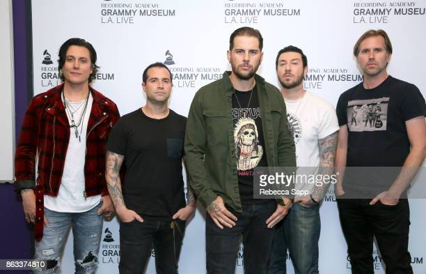 Synyster Gates Johnny Christ M Shadows Zacky Vengeance and Brooks Wackerman of Avenged Sevenfold attend An Evening With Avenged Sevenfold at The...